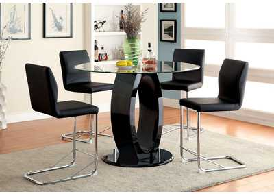 Image for Lodia II Black Counter Table w/4 Counter Chair