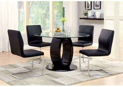 Image for Lodia I Black Table w/4 Side Chair
