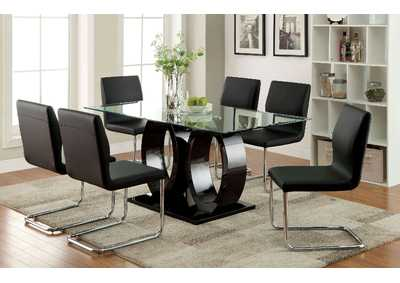 Image for Lodia I Black Dining Table w/4 Side Chair