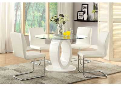 Image for Lodia I White Table w/4 Side Chair
