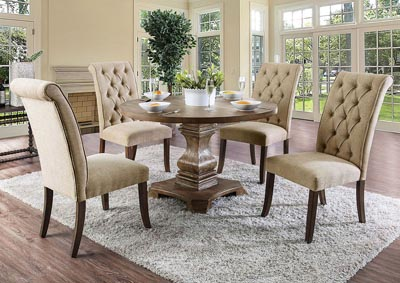 Nerissa Antique Oak Dining Table,Furniture of America