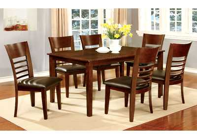 "Hillsview I Brown 60"" Dining Table w/4 Side Chair"