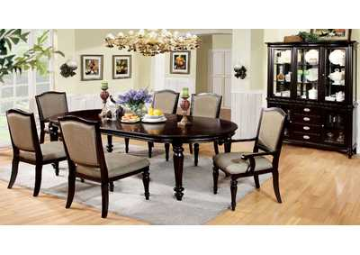 Image for Harrington Dark Walnut Extension Dining Table w/4 Side Chair & 2 Arm Chair