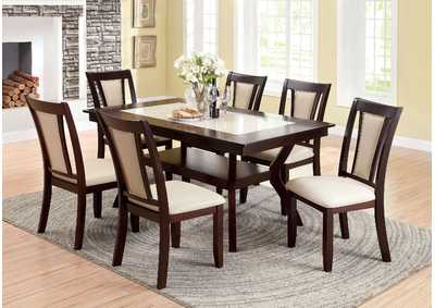 Image for Brent Cherry/Ivory Dining Table w/4 Side Chair
