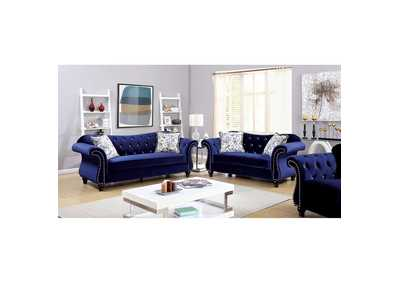 Image for Jolanda Blue Curved-Back Sofa and Loveseat