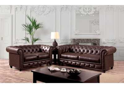Image for Stanford Brown Sofa and Loveseat