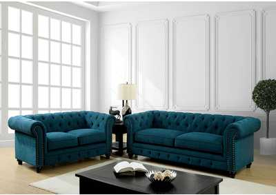 Image for Stanford Dark Teal Sofa and Loveseat