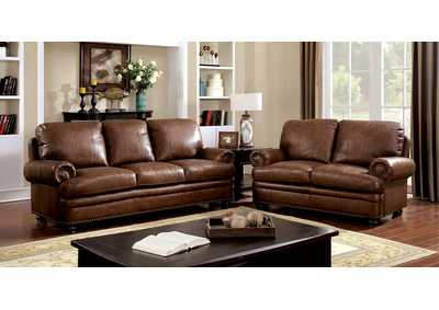 Image for Rheinhardt Dark Brown Sofa and Loveseat w/Top Grain Leather