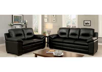 Image for Parma Black Sofa and Loveseat