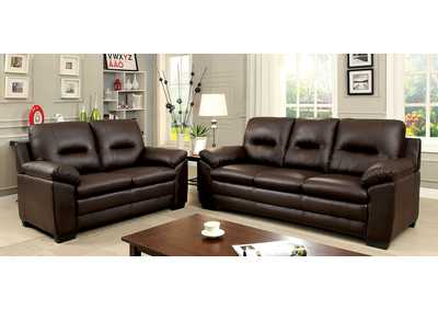 Image for Parma Brown Sofa and Loveseat