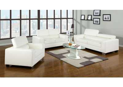 Image for Makri White Sofa and Loveseat