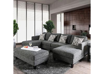 Lowry Gray Sectional,Furniture of America
