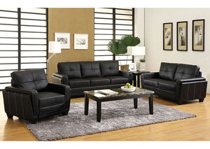 Image for Blacksburg Black Sofa and Loveseat