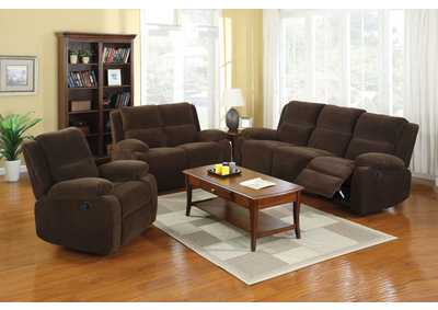 Image for Haven Dark Brown Sofa and Loveseat w/4 Recliners