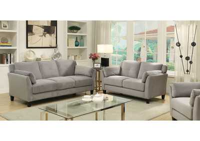 Image for Ysabel Warm Gray Sofa and Loveseat