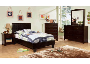 Image for Villa Park Espresso Twin Platform Bed w/Dresser and Mirror
