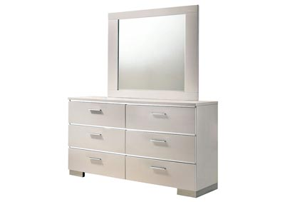 Image for Malte White Dresser and Mirror