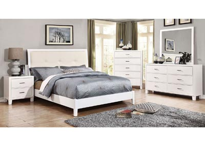 Enrico I White Dresser and Mirror,Furniture of America