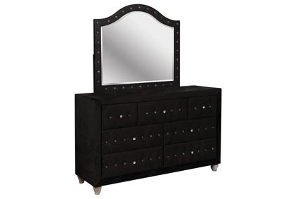 Alzire Black Dresser and Mirror,Furniture of America