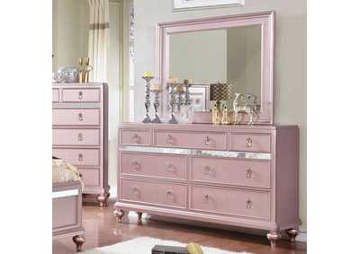 Ariston Pink Dresser and Mirror,Furniture of America