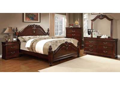 Image for Mandura Cherry Eastern King Poster Bed w/Dresser and Mirror