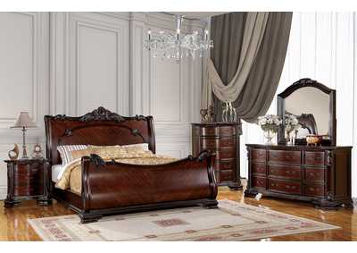 Image for Bellefonte Brown Queen Sleigh Bed w/Dresser and Mirror