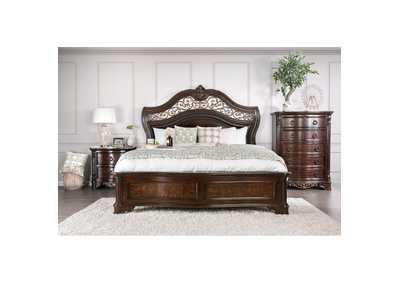 Menodora Brown Queen Platform Bed w/Dresser and Mirror