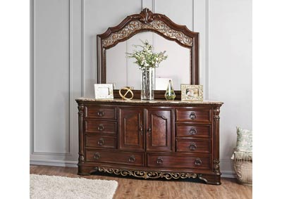 Image for Menodora Brown Dresser and Mirror