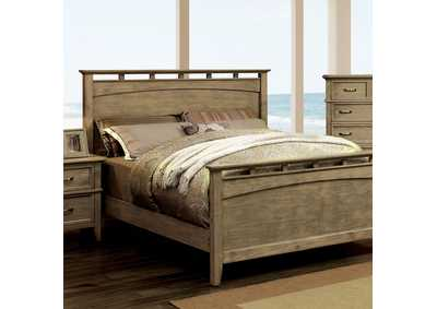 Loxley Weathered Oak Dresser and Mirror,Furniture of America