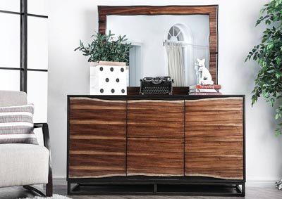 Fulton Brown Dresser and Mirror,Furniture of America
