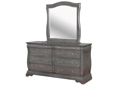 Merida Gray Dresser and Mirror,Furniture of America
