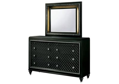 Demetria Black/Metallic Gray Dresser and Mirror