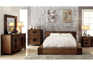 Aveiro Rustic Natural Tone Dresser and Mirror,Furniture of America
