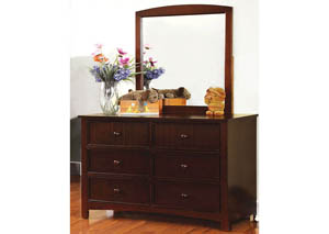 Omnus Dark Walnut Dresser w/Mirror,Furniture of America