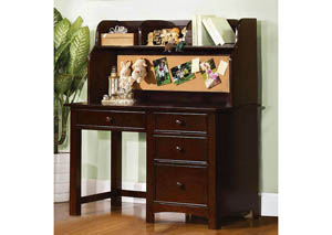 Image for Omnus Dark Walnut Desk w/Hutch