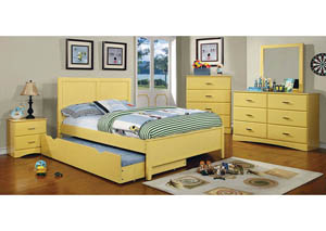 Image for Prismo Yellow Twin Platform Trundle Bed