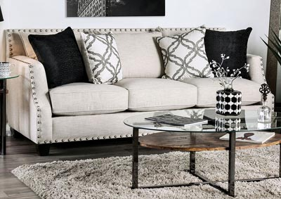 Phoibe Gray Sofa and Loveseat,Furniture of America
