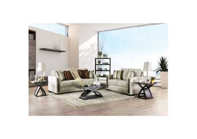 Chubbuck Beige Sofa and Loveseat