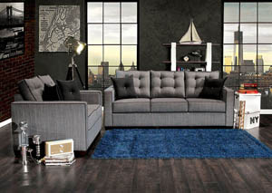 Image for Ravel I Gray Sofa and Loveseat w/4 Piece Pillow