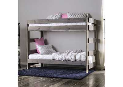 Image for Arlette Grey Twin/Twin Bunk Bed