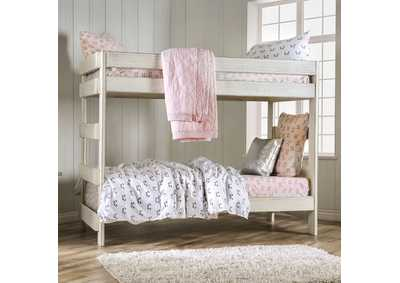 Image for Arlette White Twin/Twin Bunk Bed