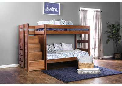Image for Ampelios Mahogany Twin/Twin Bunk Bed