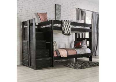 Image for Ampelios Black Twin/Twin Bunk Bed