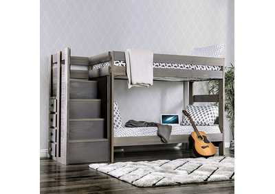 Image for Ampelios Grey Twin/Twin Bunk Bed