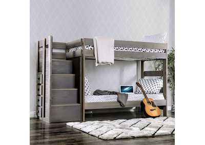 Image for Ampelios Gray Twin/Twin Bunk Bed