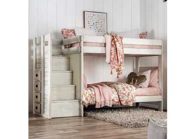 Image for Ampelios White Twin/Twin Bunk Bed