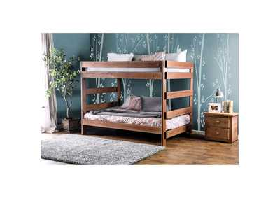 Image for Arlette Mahogany Full/Full Bunk Bed
