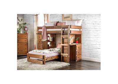 Image for Beckford Mahogany Twin/Twin Loft Bed