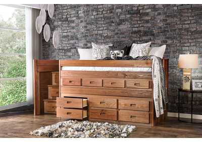 Image for Cleo Mahogany Twin Captain Bed
