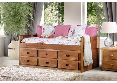 Image for Lia Mahogany Twin Captain Bed